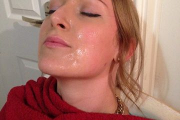 Tracy Kiss having a sperm facial