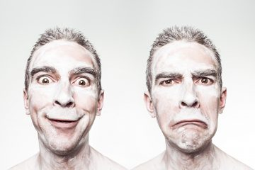 man showing interesting facial expressions free use stock photo